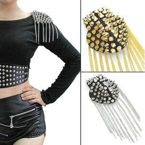 Jackets & Blazers - Unisex Gothic Shoulder Spike Pins ~ Gold Or Silver